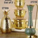 Set of 2 Brass Planters - #05853