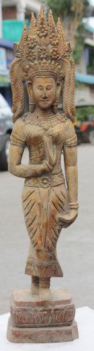Asian Khmer Dancing Lady Statue
