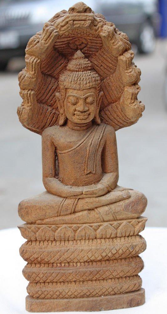 Asian Wooden Sitting Buddha #11