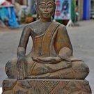 Asian Wooden Sitting Buddha #10