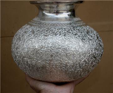 Beautiful Asian Silver Vase