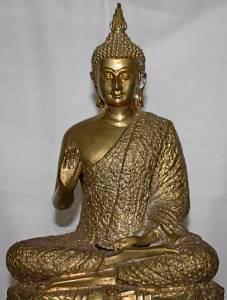 Antique Old Asian Bronze Buddha #2