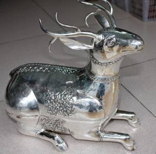 Beautiful Big Asian Silver Deer
