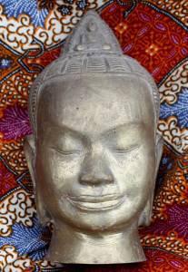 Asian Old Bronze Buddha Head #1