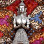 Old Asian Cambodian Khmer Silver Sitting Statue