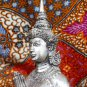 Old Asian Cambodian Khmer Silver Kneeling Statue
