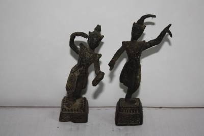 Early Khmer Bronze Dancing Statues