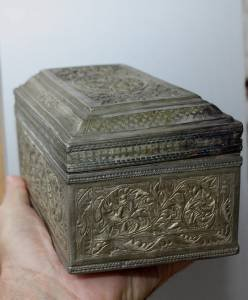 Exquisite Asian Silver Chest Box