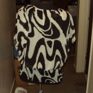 WOMENS  Black And White With Gold Trim CASUAL PLUS SIZE BLOUSE SIZE 1X 2X 3X