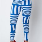 WOMENS PARTY CASUAL ROYAL BLUE STRIPED LEGGINGS SIZE S M L