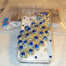 iphone 4gs Peacock Case with Rhinestones