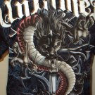 MENS COTTON CASUAL GRAPHIC DRAGON UNTAMED T-SHIRT SIZE XL