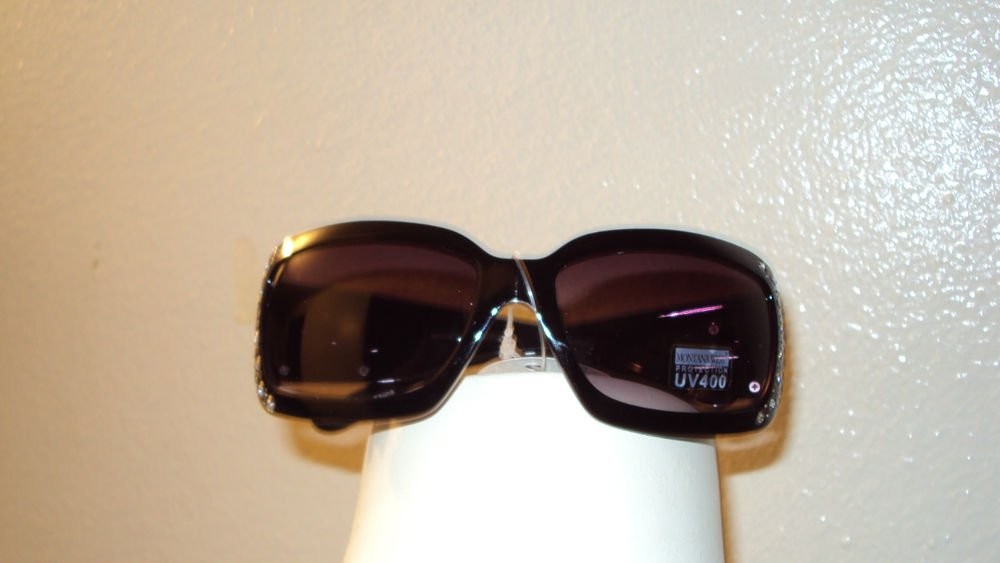 MONTANA WEST COWGIRL UV400 SUN GLASSES WITH DECORATIVE RHINESTONES ON THE SIDES