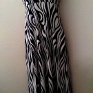 WOMENS NAVY BLUE AND WHITE SUMMER BEACH PARTY CASUAL HALTER DRESS SIZE S M