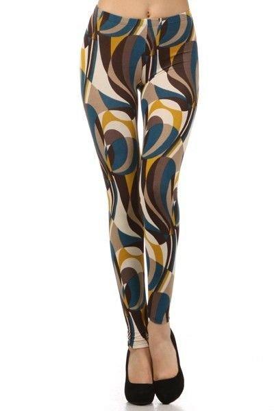 WOMENS CASUAL  TEAL BLUE MUSTARD YELLOW LEGGINGS S M L