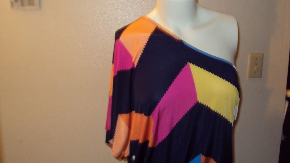 WOMENS ONE SHOULDER MINI DRESS WITH BELT FUCSHIA BLUE YELLOW ORANGE SIZE S M L