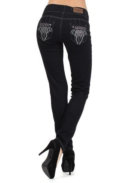 GIRLS JUNIOR STRAIGHT LEG JEANS WITH GORGEOUS EMBRODERY ON THE BACK POCKETS