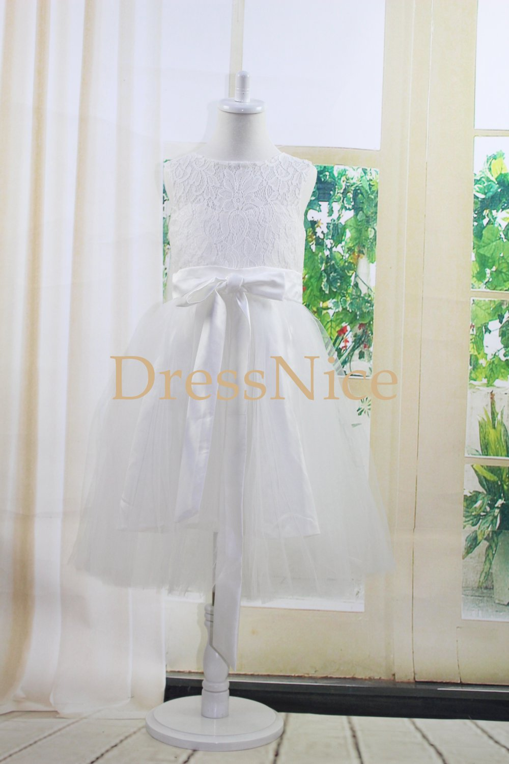 new ivory lace flower girl dress,toddler lace dress,girl lace dress