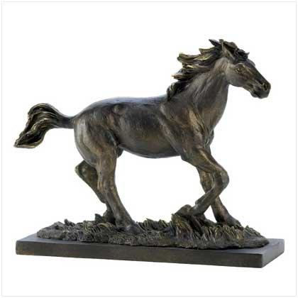 Wild Stallion Horse Statue