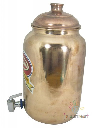 Indian Pure Copper Water Pot with tap, Copper Jug, Copper Vase, Good For Health