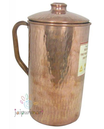 Wholesale Lot 2PC Jug Indian Pure Copper  Water Jug 1.5 Ltr. Pot Pitcher Mug