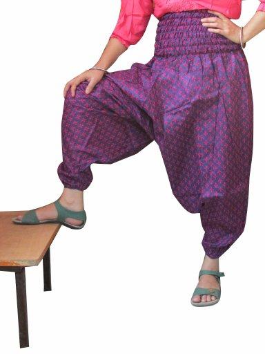 Indian Purple Color Harem pants Baggy Genie Trouser Jumpsuit Boho Gypsy Indian