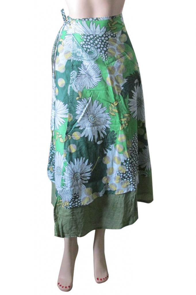 Indian Summer Wear Wrap Round Skirt Beach Casual Party Wear Boho Woman skirts