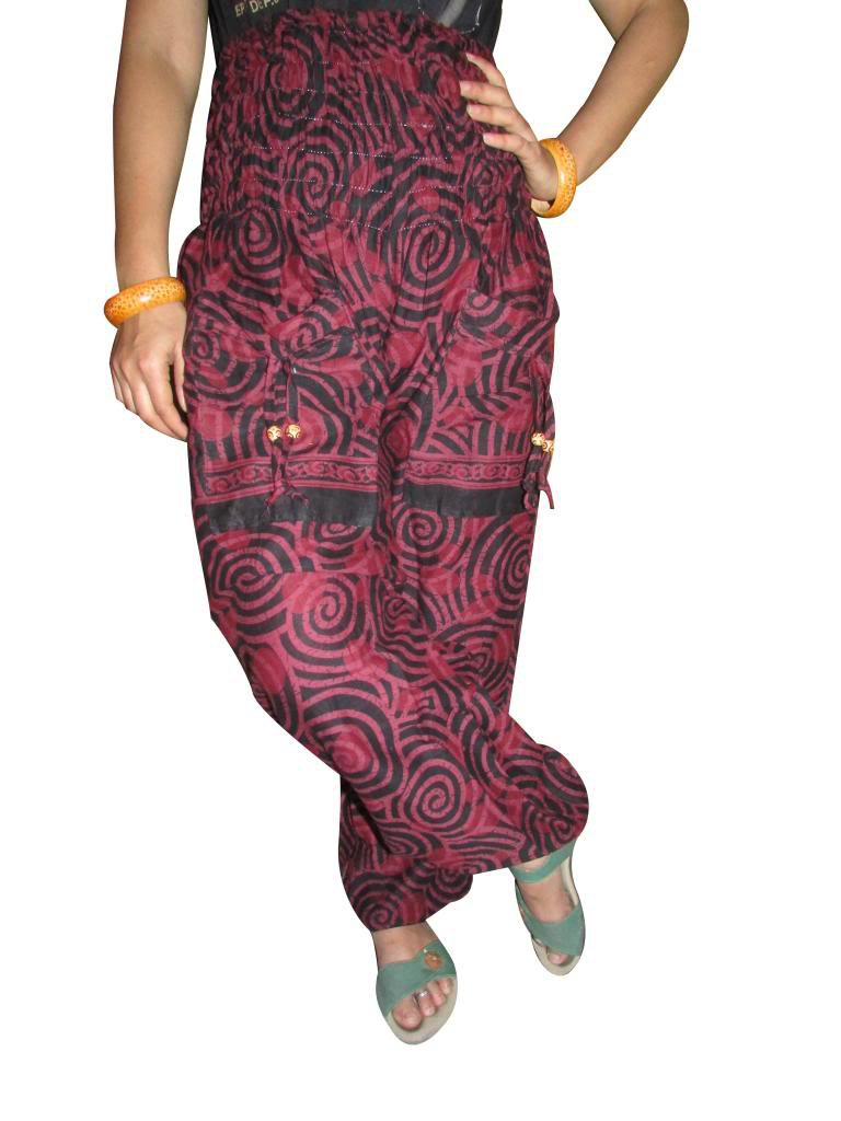 Harem Pants, Aladdin Jump Suit, Boho Pant,Gypsy, Genie, Indian Cotton Trouiser,