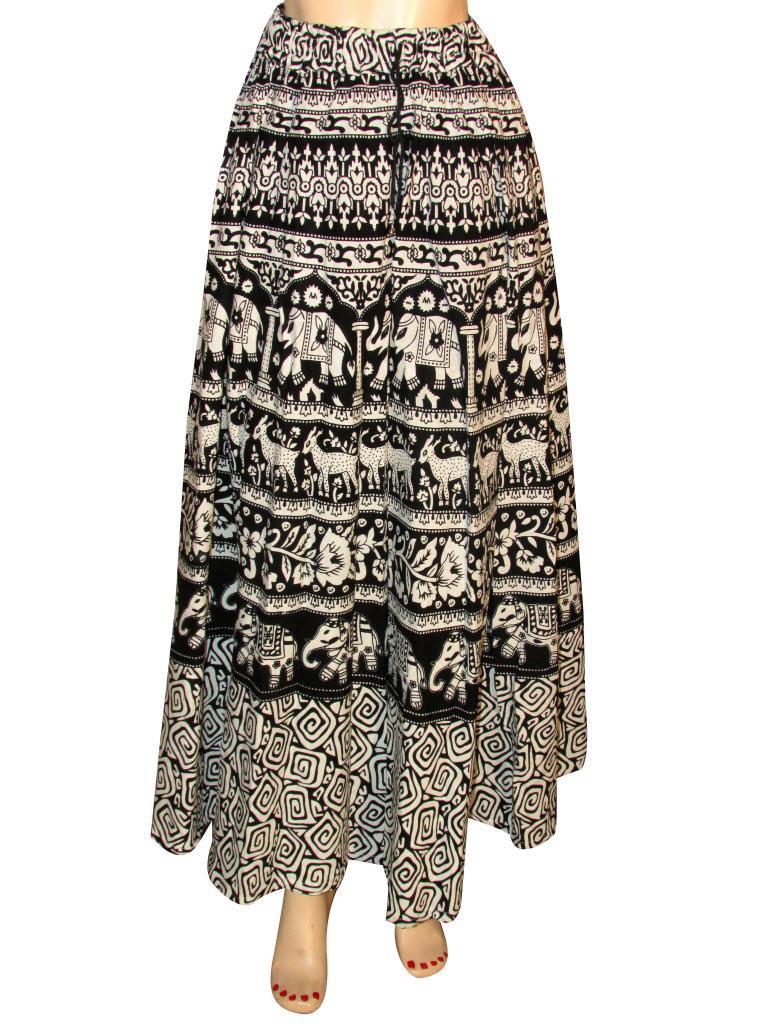Summer Wear Long Skirt Beach Casual Party Wear Boho Woman skirts Indian Style