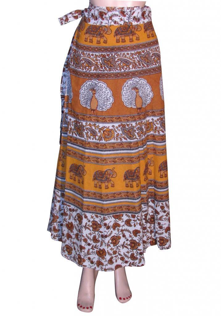 Summer Wear Wrap Round Skirt Beach Casual Party Wear Boho  Woman skirts Indian