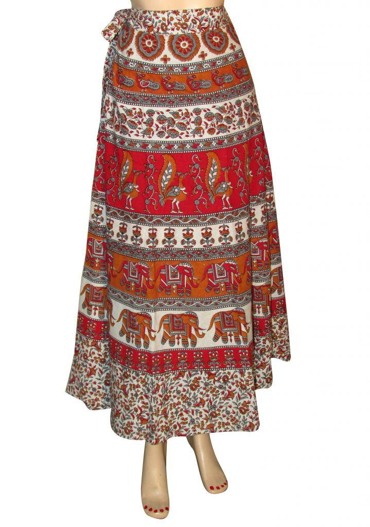 Skirt Beach Casual Party Wear Boho  Woman skirts Indian Summer Wear Wrap Round
