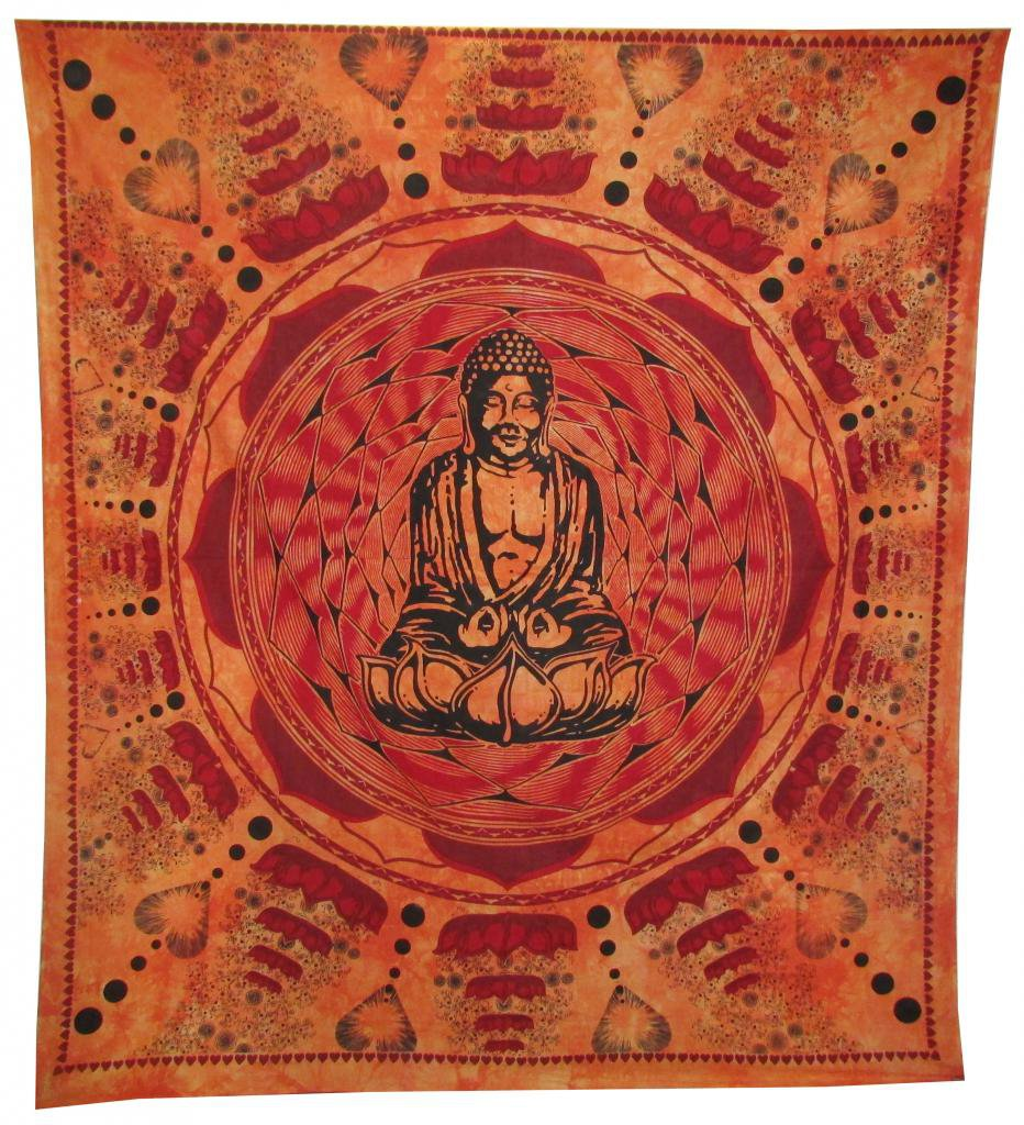 Buddha Wall Hanging Bed Cover Curtain Tapestry Boho  Hippie  Mandala Bedspread