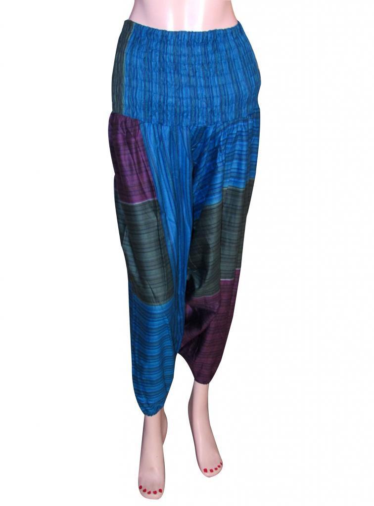 Jumpsuit Boho Gypsy Indian Multi Color Harem Pants Stripes Baggy Genie Trouser