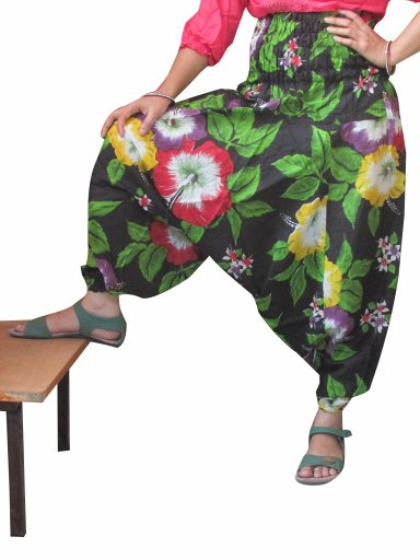 Beautiful Floral Print Harem Pants Baggy Genie Trouser Jumpsuit Boho Gypsy India