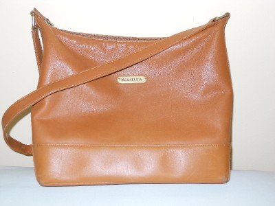 MEDALLION - BROWN Leather Hobo Shoulder Crossbody Shopper BAG