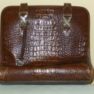 EXCELLENT VINTAGE BRIGHTON ALLIGATOR/CROCODILE PURSE-HANDBAG