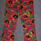 Ralph Lauren Capri Cropped Pants Jeans Sz 6 Floral Print Pink Red Green NWOT