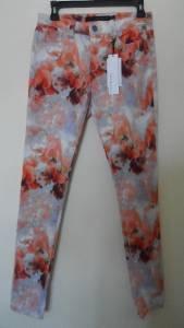 Calvin Klein Jeans Leggings Pants Sz 6 / 28 Skinny Slim Multi Color