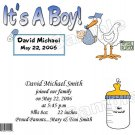 20 Personalized 1.55oz Candy Wrappers Stork! Its A Boy