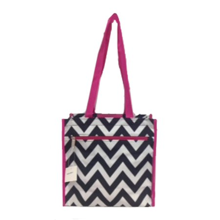 Black and White Chevron Backpack-16""