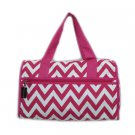 Chevron Weekender Black & White Bag 19""