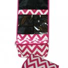 Chevron Fuchsia Roll-up Cosmetic Bag-24""
