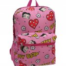 Betty Boop-Hearts & Heads Pink Backpack- 19""