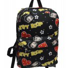 Betty Boop-Hearts & Heads Black Backpack- 19""
