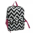 Chevron Black & White Backpack - 16""