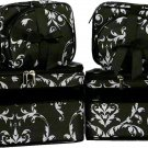 Damask Cosmetic Case -6 Pc