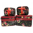 Owl Cosmetic Case - 6 Pc