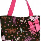 Pink Butterfly Shopping Bag - 17""