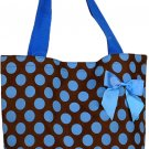 Blue Polka Dots Shopping Bag - 17""