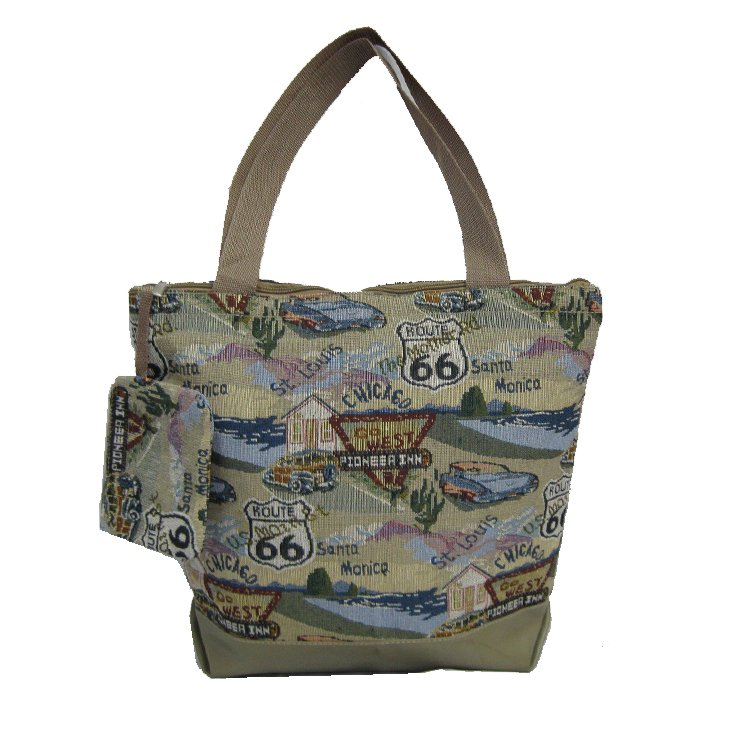 """Route 66 Shopping Bag - 17"""""""